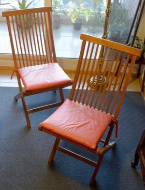 Juego de 6 sillas de madera plegables IMPECABLES.