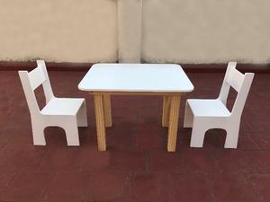 Mesa y sillas infantiles (En varios Colores)