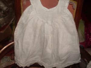 Vestido blanco de bautismo 12 meses