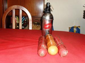 antiguo sifón con 2 garrafitas para carga inflex $ 550.-