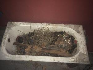 bañadera de fundicion