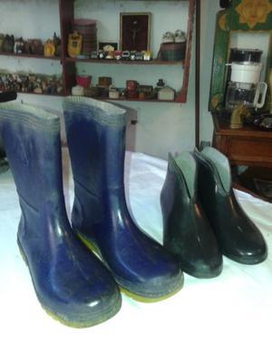 botas de lluvia nª 36 altas y bajas