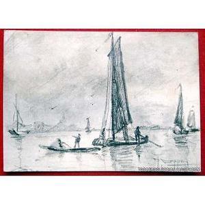 dibujo original firmado lapiz de 11,5 x 8,5 cm