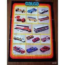 galgo folleto doble faz 12 muestra del juguete catalogo