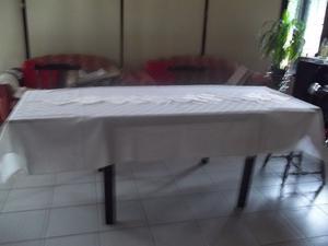 mantel de poliester y algodón