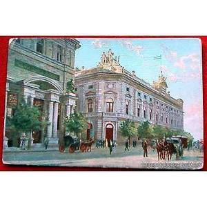 postal del banco nacion y el nuevo banco italiano en plaza