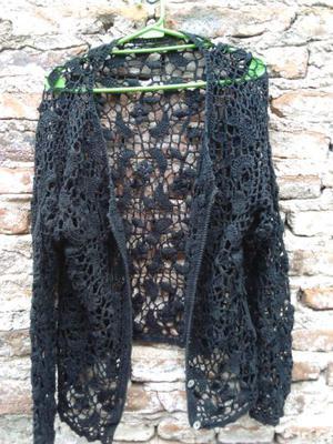 Saco tejido al crochet talle grande
