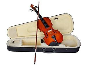 Tms 4/4 Full Size Natural Acoustic Violin Fiddle With Case R