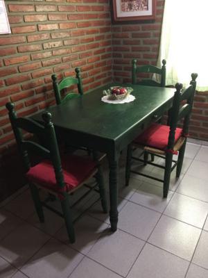 Mesa Y Sillas De Comedor Usadas. Oferta Mesa Comedor With Mesa Y ...