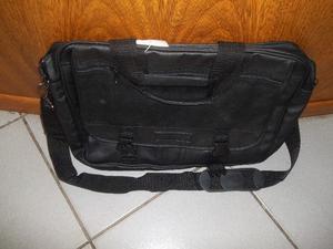 portafolio de cuero color negro