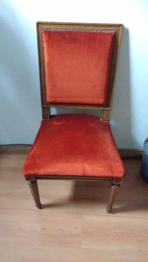 Antigua silla estilo Luis XVI