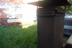 Campana de parrilla 3 mtas x 1 mas chimenea