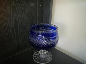 Copon Cristal Azul Bohemia Grande 20 cm