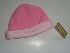 Gorro bebe nena en tela de polar color rosa - talle 1 65f0c3be290