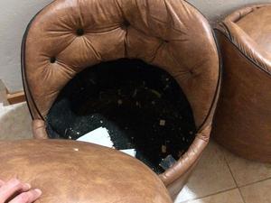 Hermosos sillones de cuerina