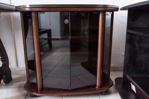 Mesa TV con puertas de vidrio