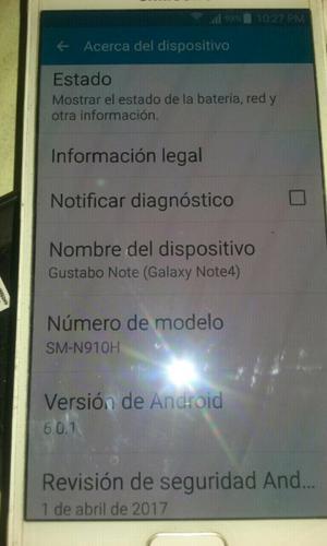 Samsung note 4 libre de fabrica 3g