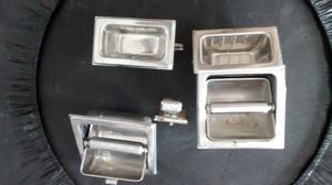 Accesorio para ba o 7 accesorios acero inoxidable posot for Set de bano acero inoxidable