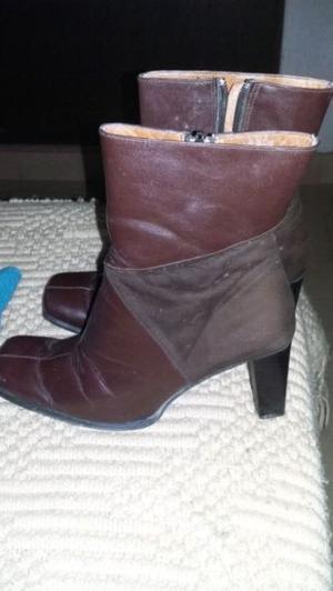Vendo botas de cuero y gamuza talle