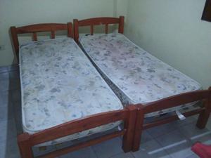 Vendo camas (2) de 1 plaza con colchónes Inducol