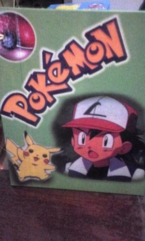 Vendo carpeta escolar de 3 agujeros- pokemon-