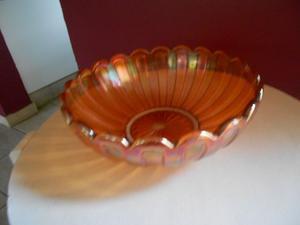 antiguo centro de mesa carnival glas