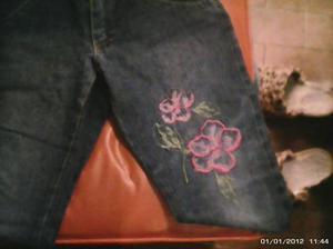 pantalon de jean de nena marca guimel talle 12 con bordado