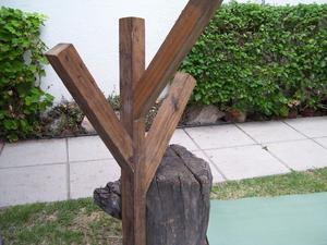 Deco haus perchero pared madera laqueda 3 posot class - Perchero pared madera ...