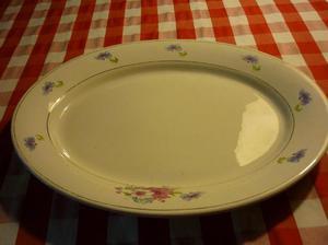 plato fuente oval estilo shabby chic semi-porcelana essex