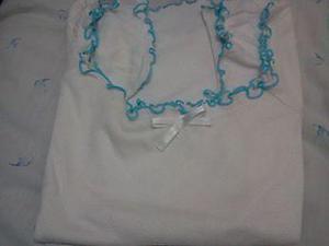 remera de algodón con ribete y moño.talle:s/m (con