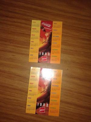 vendo lote de almanaques de coca cola