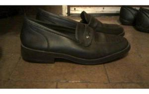 zapatos de cuero, de hombre nro.40 - color negro con poco