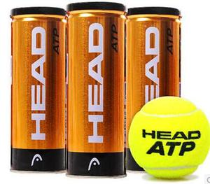Kit Tubos Head Atp Gold X 3 Tubos Tenis,padel...!!!