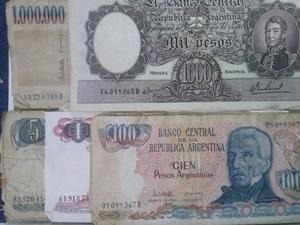 LOTE DE MONEDAS Y BILLETES $