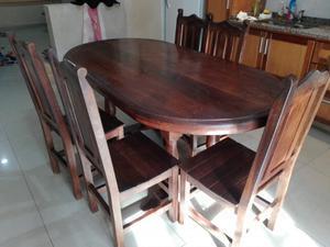 Ofresco 8 sillas de algarrobo color oscuras usadas posot - Sillas de comedor usadas ...