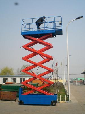 Plataforma autopropulsada con bateria de 6 metros de altura