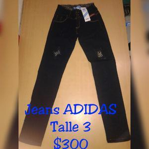 T3 Pantalon jeans elastisado ADIDAS