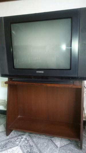Televisión 29'' Hyundai + Mesa Tv De Regalo