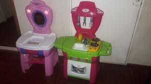Vendo cocinita y toalette para nena de plástico
