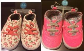 Zapatillas Carters Bebé Niña Flores O Brillos - No