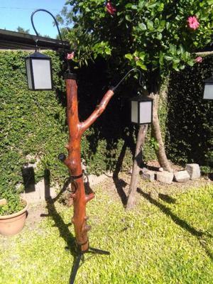 lampara artesanal de pie