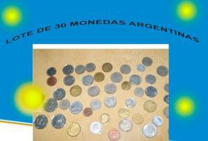 lote de 30 monedas argentimnas