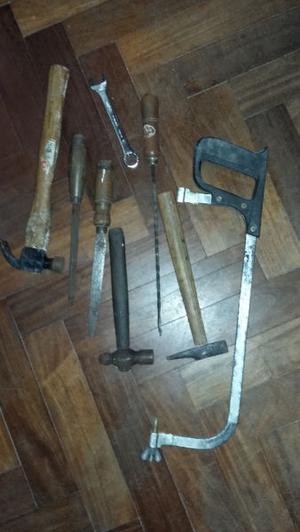 lote de herramientas usadas