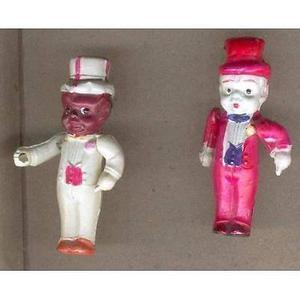 muñecos de celuloide japoneses antiguos negro y blanco y