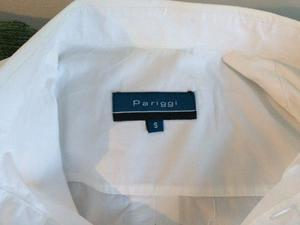 Camisa Blanca Hombre Pariggi Talle S, Manga Corta - Nueva