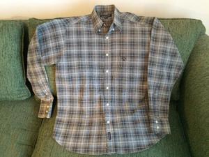 Camisa Escocesa, Kevingston, Talle M, Manga Larga, Excelente