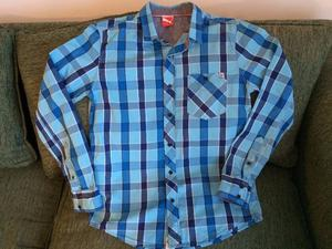 Camisa Escocesa, Puma, Talle S, Manga Larga, Excelente