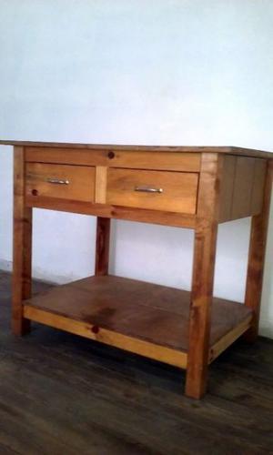 Mesa de trabajo de madera maciza en excelente estado