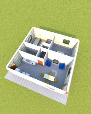 Modulos de hormigón para casa prefabricada