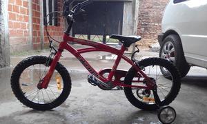 bicicleta en muy buen estado rodado 16 color roja Poko uso